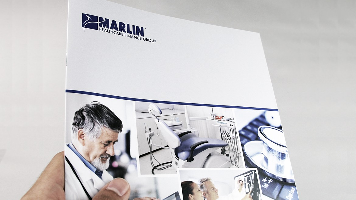 Financial printing Marlin brochure