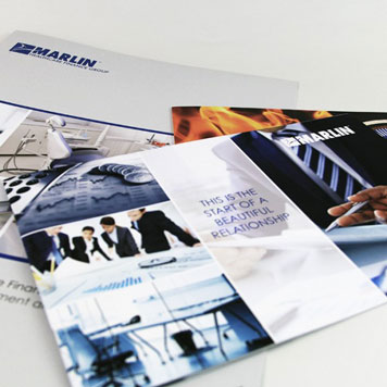 Financial printing Marlin materials