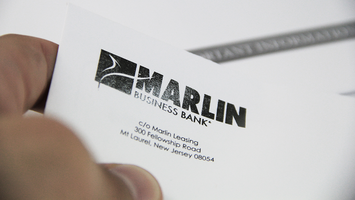 Financial printing Marlin envelope
