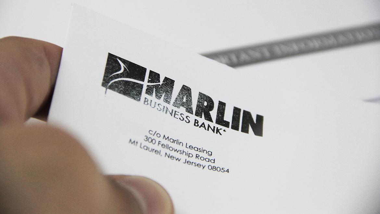 Financial printing Marlin envelope