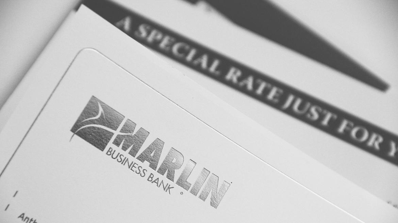 Financial printing Marlin silver logo