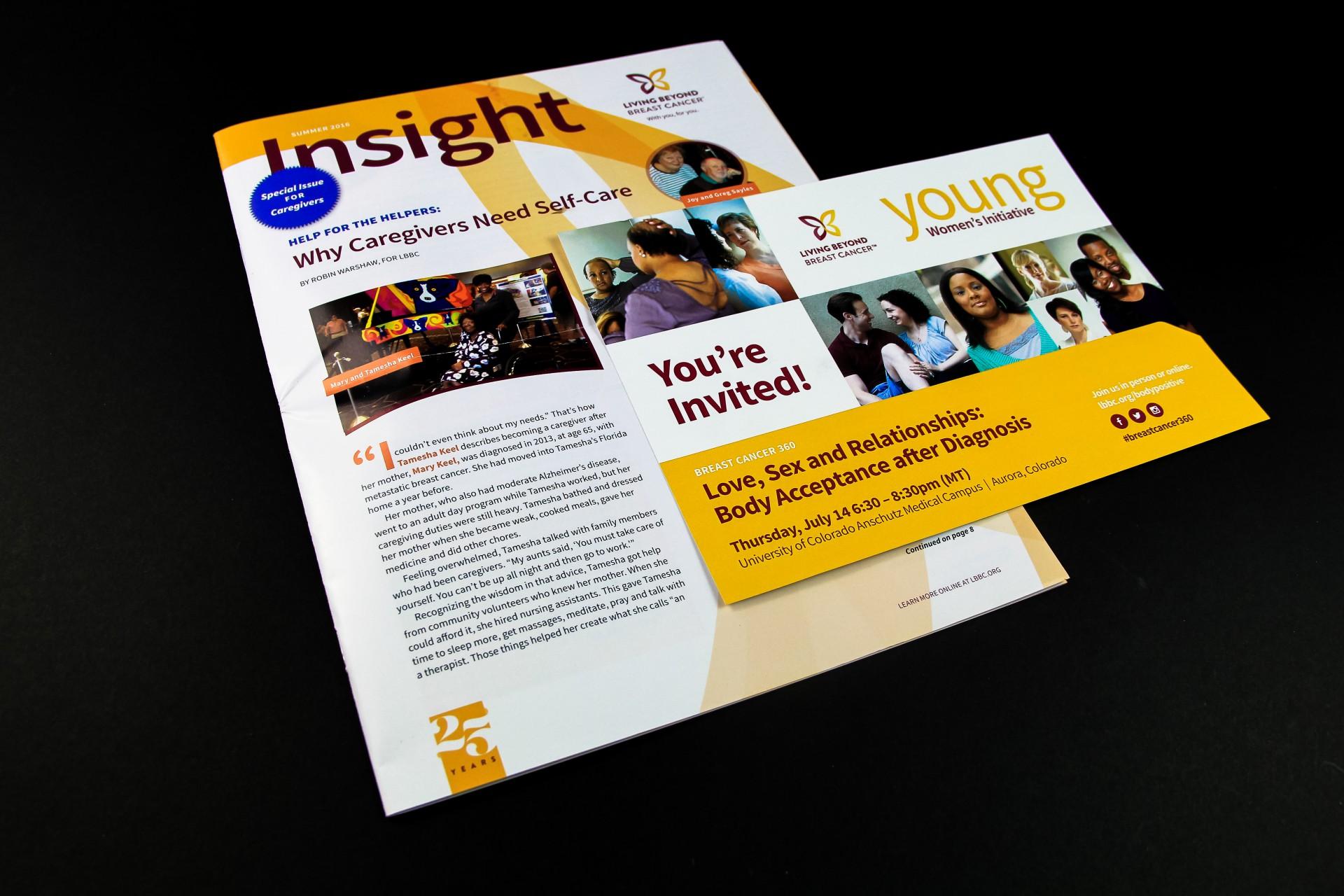 Print materials LBBC newsletter