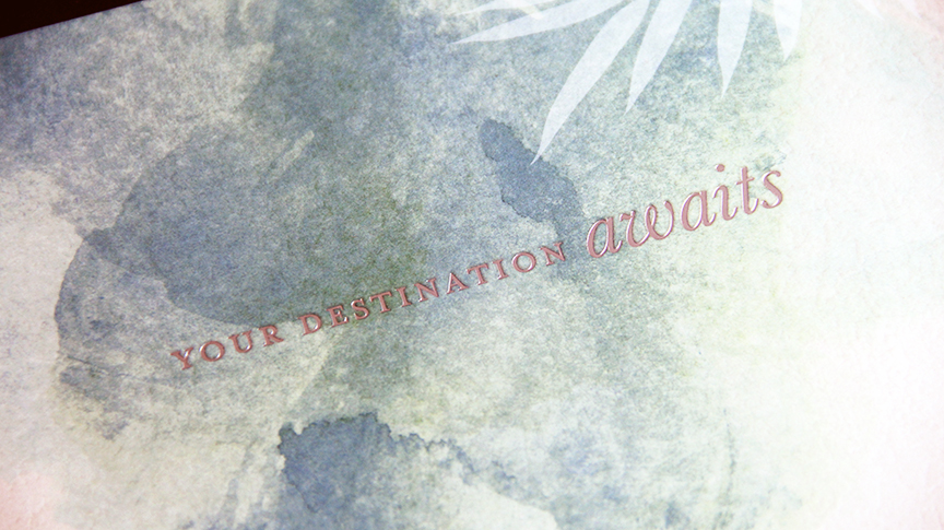 Foil stamp closeup