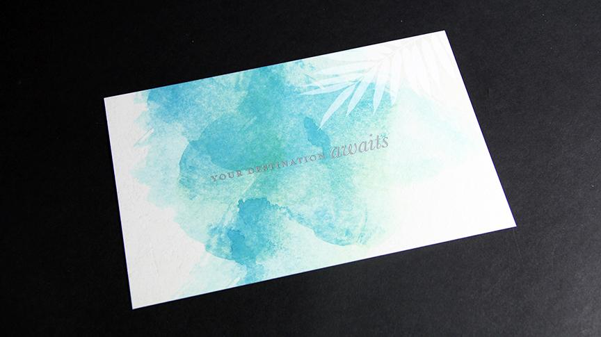 Foil stamp postcard printing Penn Mutual