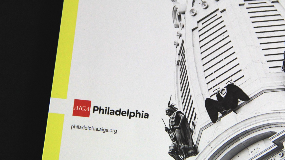 AIGA Philadelphia catalog closeup