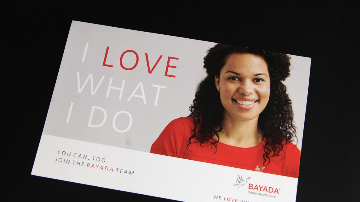 Bayada marketing aterials postcard