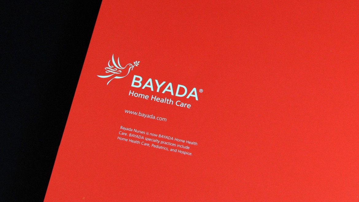 Bayada marketing materials folder corner