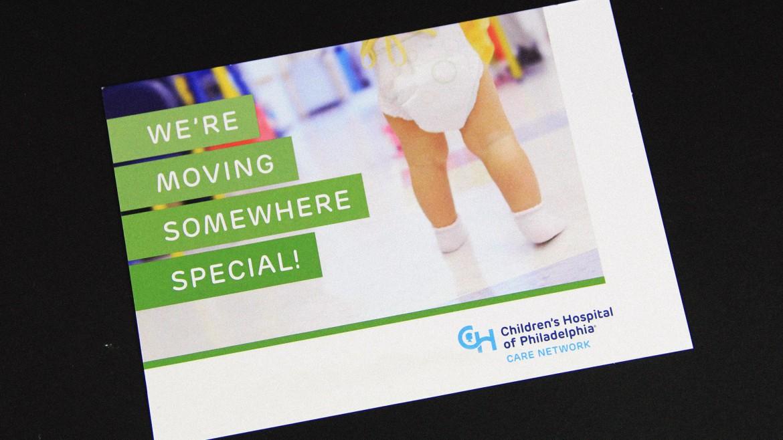 hospital printing CHOP postcard