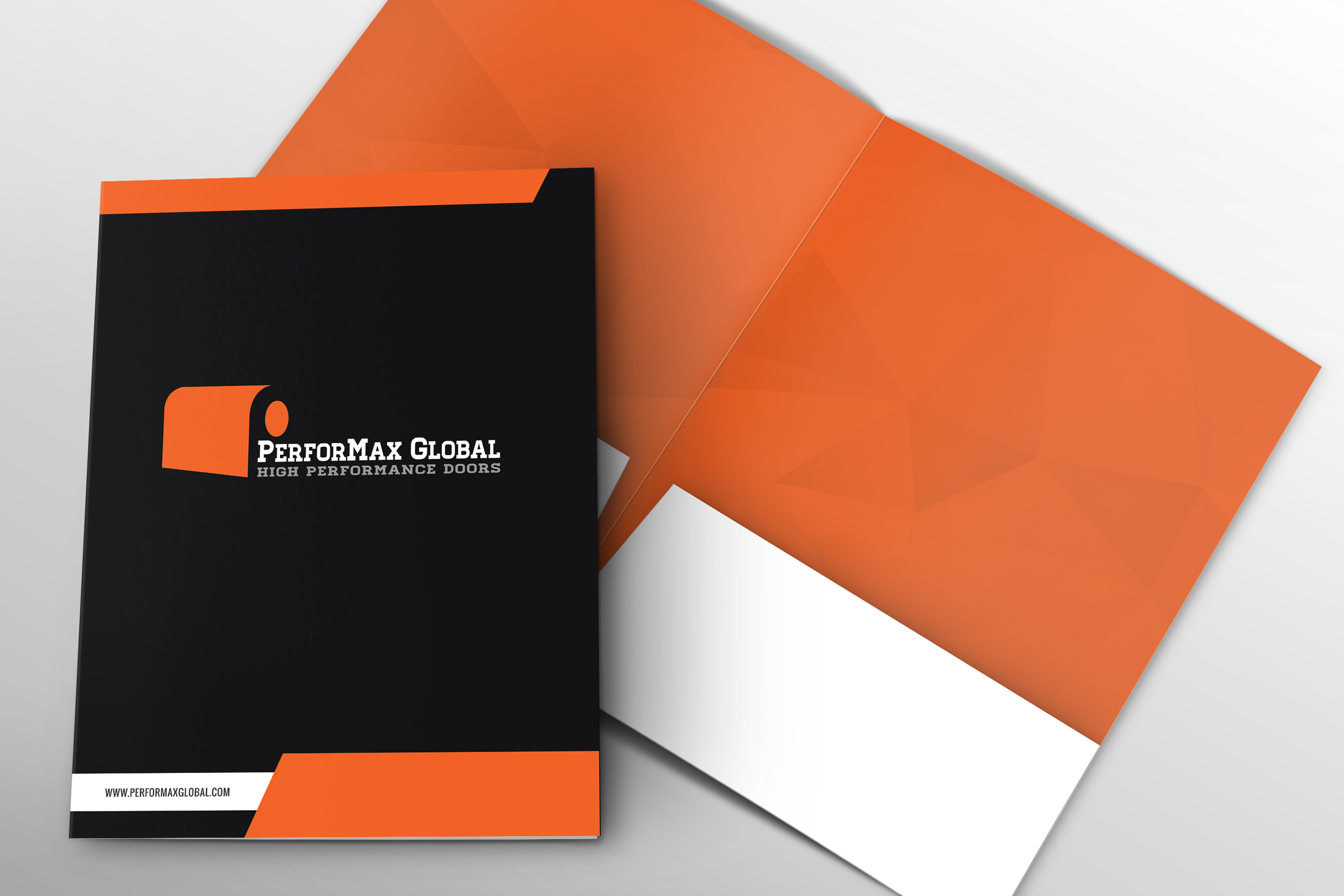Performax folder cover and spread