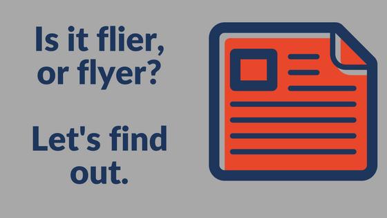 flier or flyer