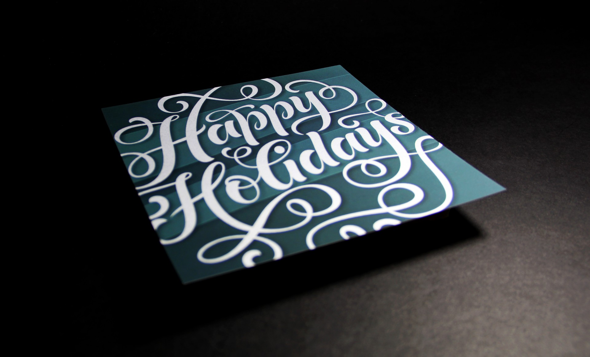 foil holiday card